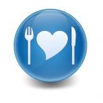 Esfera brillante simbolo comida sana