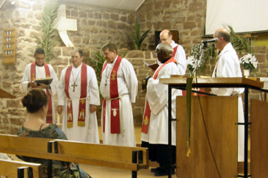 Amtseinführung von Pastor David Kuss in Hermannsburg (NT)